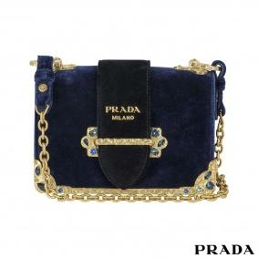 Prada Velvet Cahier Handbag